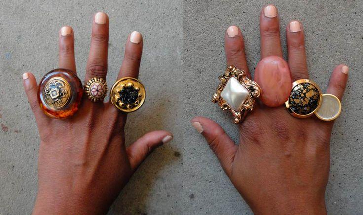 DIY botton rings