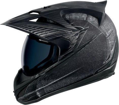 Icon Variant Battlescar Motorcycle Dual Sport Helmet Charcoal
