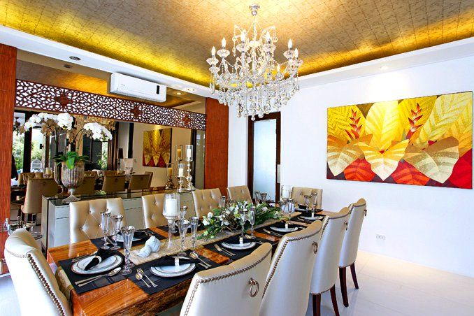 Sophisticated style for bea alonzo 39 s quezon city house for Dining room designs philippines