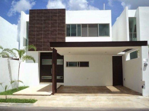 Fachadas de casas de 2 pisos con cantera chocolate for Pisos modernos para casas minimalistas