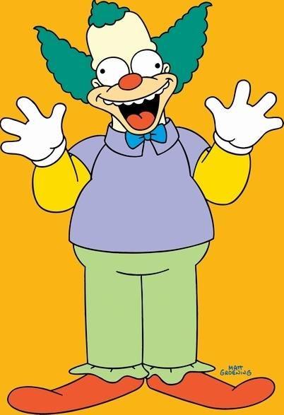 17 best images about krusty the clown on pinterest plush - Clown simpson ...