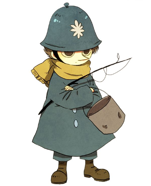 Police guard Snufkin? (What a clever disguise. Nobody would ever believe it's him.)