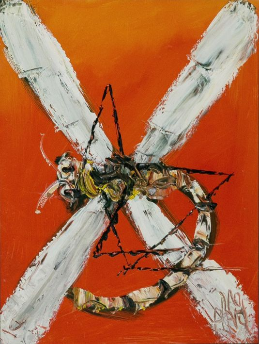 "Always a sought after subject by Pro Hart ... ""Dragonfly"" - Tiffany Jones Fine Art Gallery - Oil 
