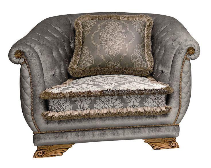 Кресло светло-серое Pregno P23T , каталог мягкой мебели: фото, заказ, доставка - ABITANT , Москва