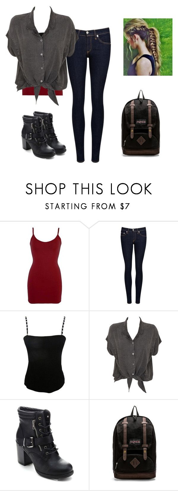 """""""Everyday Outfit"""" by amylightwood ❤ liked on Polyvore featuring BKE core, rag & bone/JEAN, Jean Muir, Evil Twin and JanSport"""