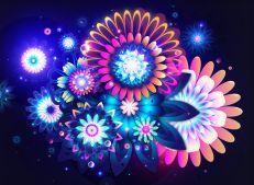 Fondo de Escritorio de Flores Y Mariposas Brillantes Hd