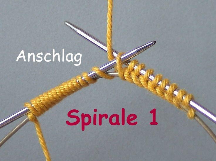 01.1 - STRICKEN : SPIRALE  1 - super-einfach anschlagen  - MPs Wickelans...