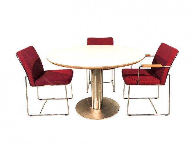 Eetkamertafel Wit Rond : Orvieto – Ronde tafel met wit blad # ...