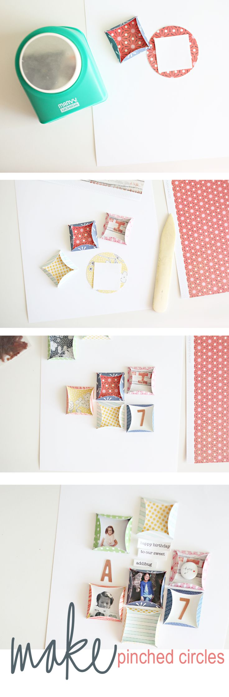 Tutorial | Pinched Circles by ShannaNoel at @Studio_Calico such a talented and generous lady!
