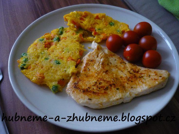 Dobroty od Adele :): Zeleninová polenta s kuřecím plátkem (270 kcal)