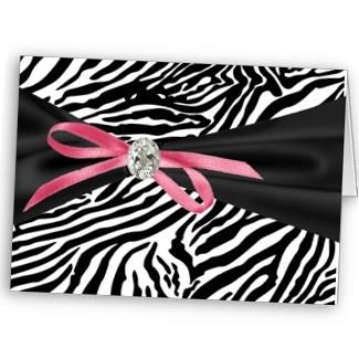 bat mitzvah invitePink Zebra