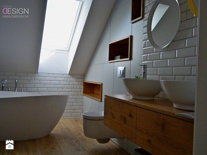 Łazienka styl Skandynawski - zdjęcie od kabeDesign kasia białobłocka