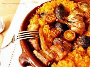 Receta de Arroz al horno típico de la Comunidad Valenciana. Explicada paso a paso.