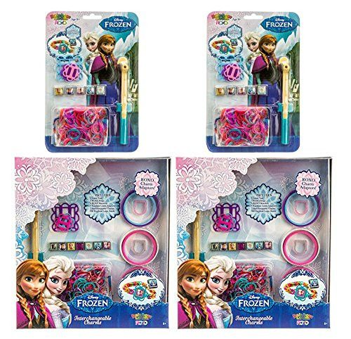Set of 1258 Disney Frozen Rainbow Loom Ultimate Bonus Pack with Extra Rainbow Loomer, Extra Bands and Charm Adapters.
