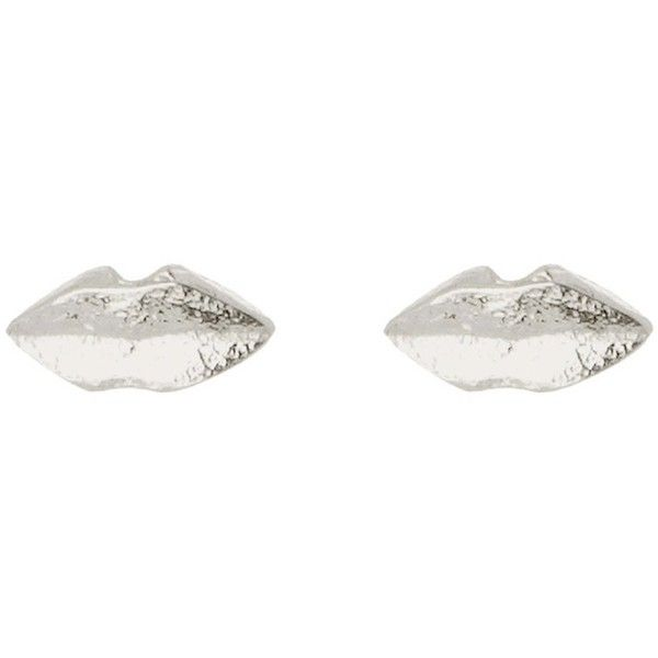 Sterling Silver lips stud earrings ❤ liked on Polyvore featuring jewelry and earrings