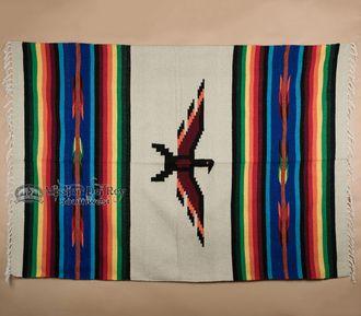 Thunderbird Southwestern Blanket 5'x7' -Beige (tb38a)