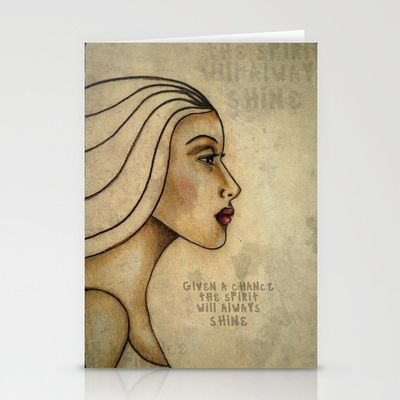 Given a chance the spirit will always shine #Stationery #Cards by denthe - $12.00