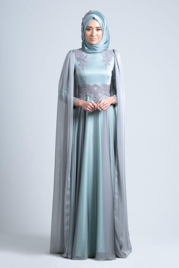 c0d433bbb7755 Gönül Kolat - Şifon Pelerinli Tesettür Abiye nişan elbisesi nişan  kıyafetleri nişanlık #nişanelbisesi #nişankıyafetleri