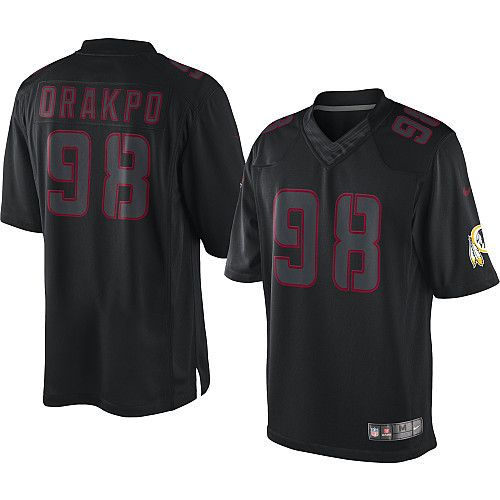 ... Nike NFL Elite Mens Washington Redskins Black 98 Brian Orakpo Impact  Jersey ... b2730defe