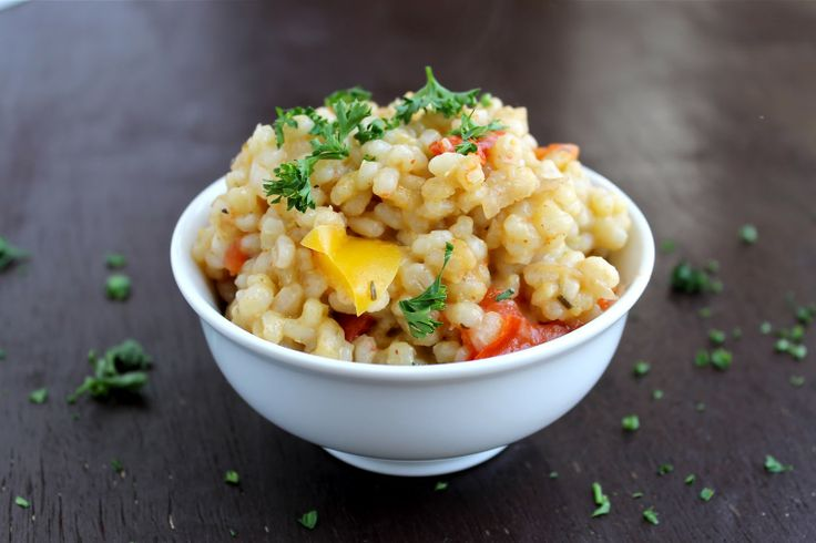 Baked Barley Risotto with Vegetables: Eating Well, Recipe Food, Healthy Recipesfood, Baking Version, Baking Barley, Healthy Foodsfit, Barley Risotto, Food Recipe, Vegans Risotto