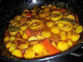 La meilleure recette de Ragoût Espagnol! L'essayer, c'est l'adopter! 5.0/5 (7 votes), 10 Commentaires. Ingrédients: 600g de pommes de terre eplucher et couper en quartiers 2 poivrons rouge et un vert couper en lamelles 1 oignon emincé 6 gousses d'ail en chemise 1 chorizo couper en rondelles 600g de lamelles d'encornet 10 cl de vin blanc 10cl de tomate solis du safran