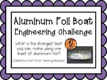 Foil Boats: Engineering Challenge Project