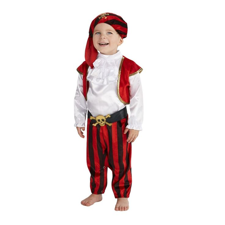 Pirate Commander Baby Costume 6-12 Months, Infant Boy's, Size: 6-12 M, Multicolored