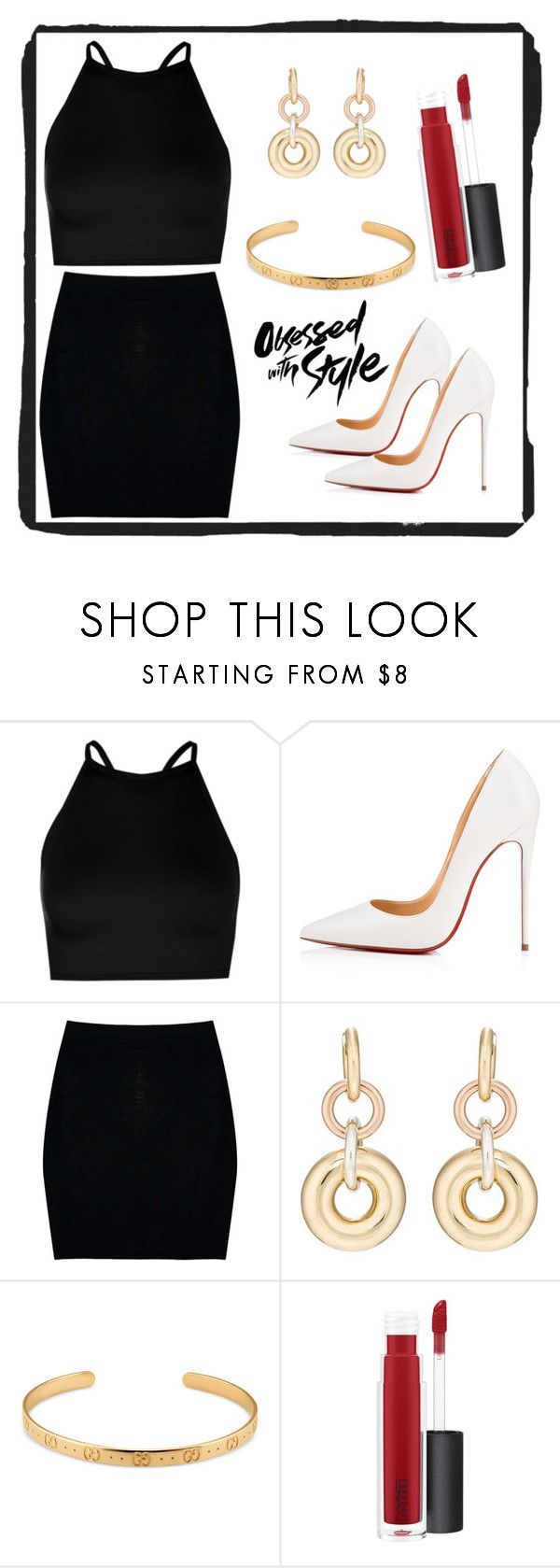 """Untitled #205"" by electraz on Polyvore featuring Boohoo, Christian Louboutin, SPINELLI KILCOLLIN, Gucci and MAC Cosmetics"