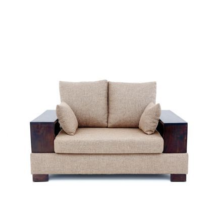Tulip Lookin Good Opulent Two Seater Sofa Beige - Add oodles of style to your home with an exciting range of designer furniture, furnishings, decor items and kitchenware. We promise to deliver best quality products at best prices.