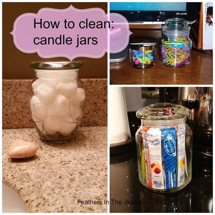 Feathers in the woods: How to clean candle jars to reuse