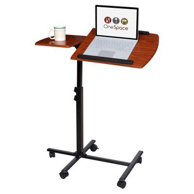 OneSpace Adjustable Mobile Laptop Dual Surface Computer Cart - 50-JN01, Durable