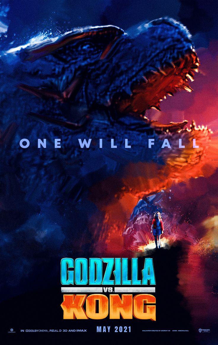 Godzilla Vs Kong Poster Art Godzilla Series Y Peliculas God Of War