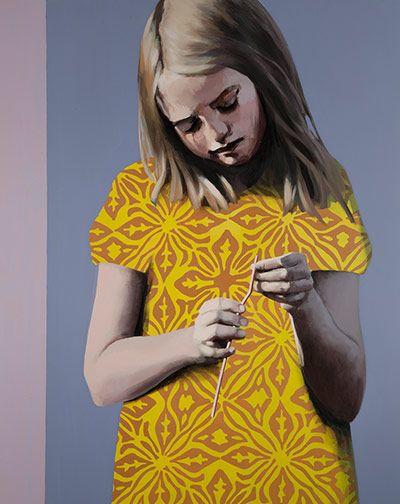 Claerwen James: Girl in Yellow 2012