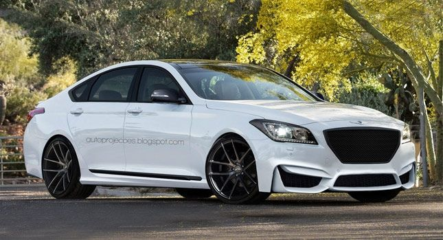 Hyundai Genesis R Spec V8 Design Study For High Po Luxury Sedan : V8 Sedans