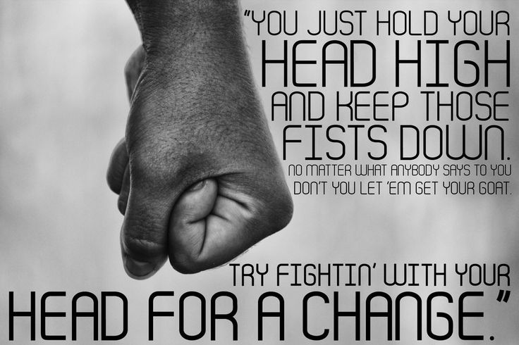 """On taking the high road: 
