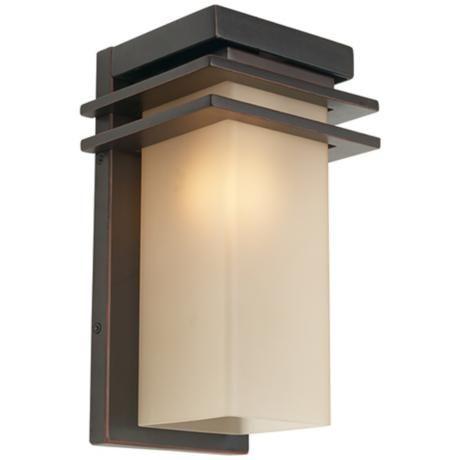 60 best lighting images on pinterest outdoor walls outdoor wall bronze and opal 12 high rectangle outdoor wall light aloadofball Choice Image