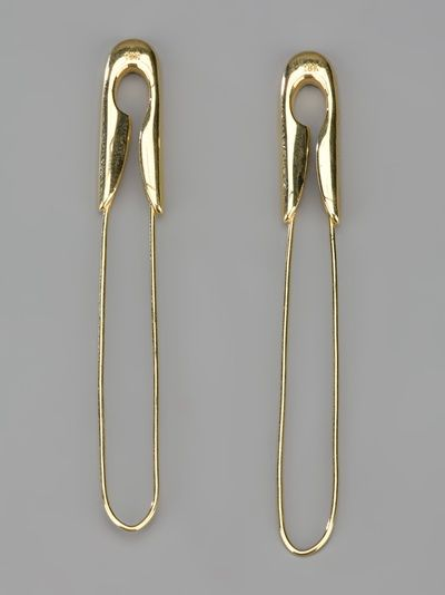 Tom Binns - large safety pin earrings