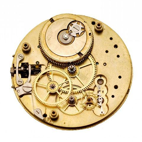 Coggiola Watch Roma (@coggiolawatch) - Elements of an English Watch: Pillar plate with gear train
