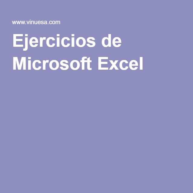 Ejercicios de Microsoft Excel