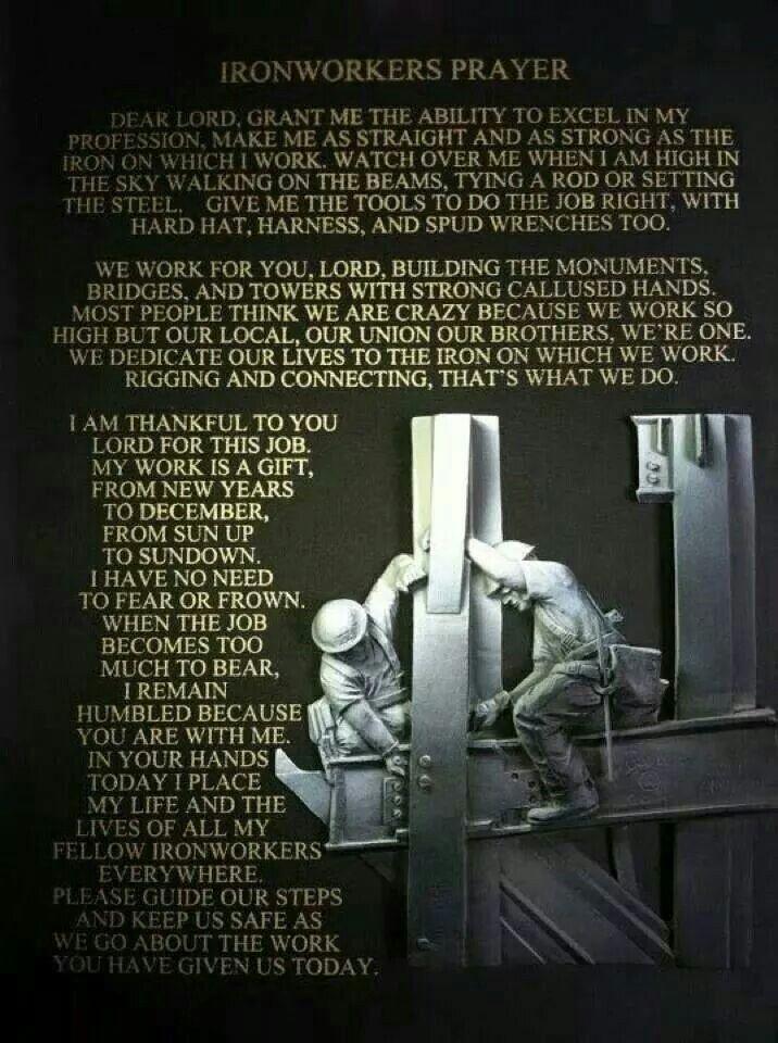 Ironworkers prayer