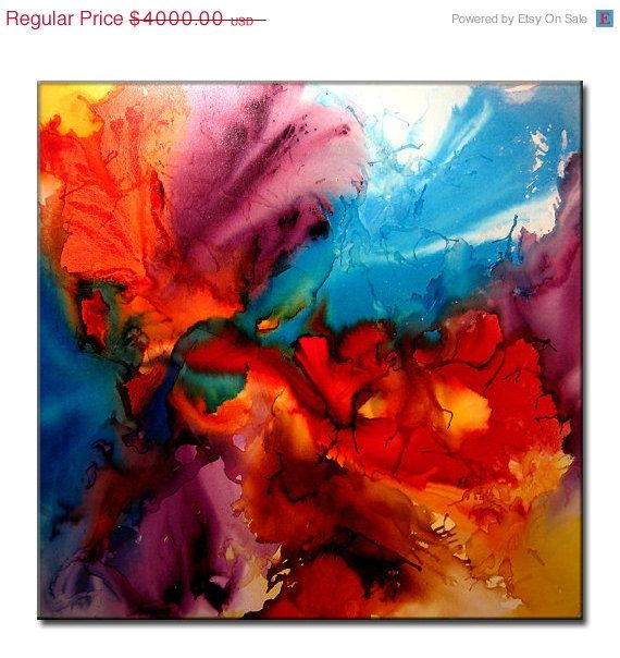 Abstract Art Huge Abstract Painting by newwaveartgallery on Etsy, $3200.00