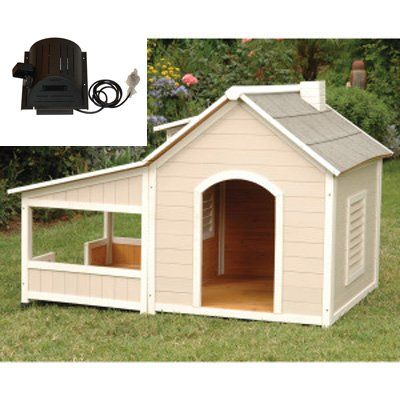 Have to have it. Precision Pets Outback Savannah Dog House with Porch and cooling fan $459.97