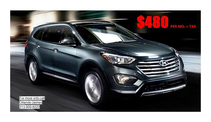NEW 2016 HYUNDAI SANTA FE Seller's Comments Contact: Orlando Jaimes (213)909-6020 *On approved credit through HMF. See dealer for complete details. 36 month closed end lease on approved credit. $19...