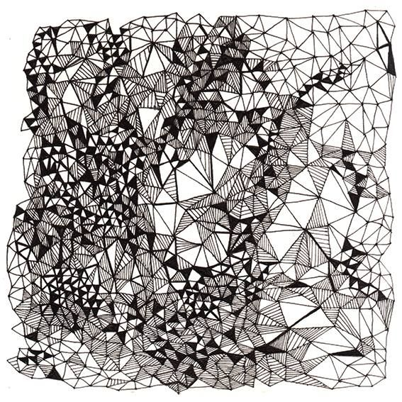 pattern by krisztiballa #krisztiballa #pattern #patterndesign #surfacepatterndesign #bw #triangle #mesh #blackandwhite