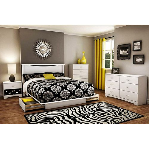 South Shore Soho 5 Piece Complete Bedroom Value Bundle White Home And Study Pinterest