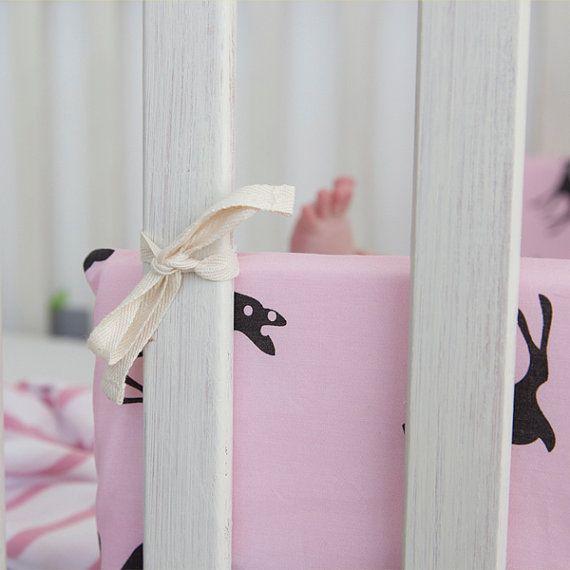 Baby Cot Bumper Baby Crib Bumper pink Bumper Nursery Bedding