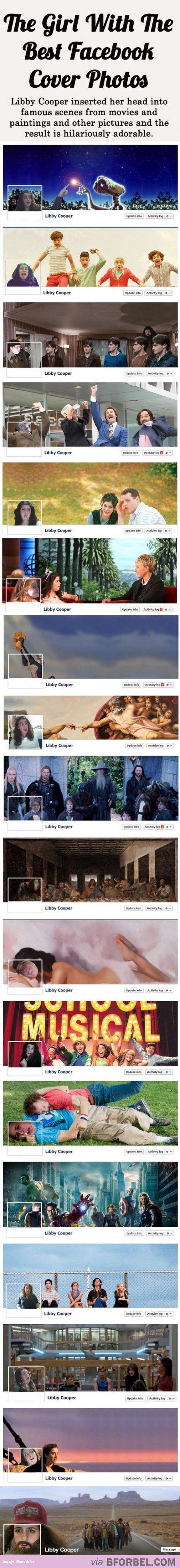 The Girl With The Hilariously Adorable Facebook Cover Photos.