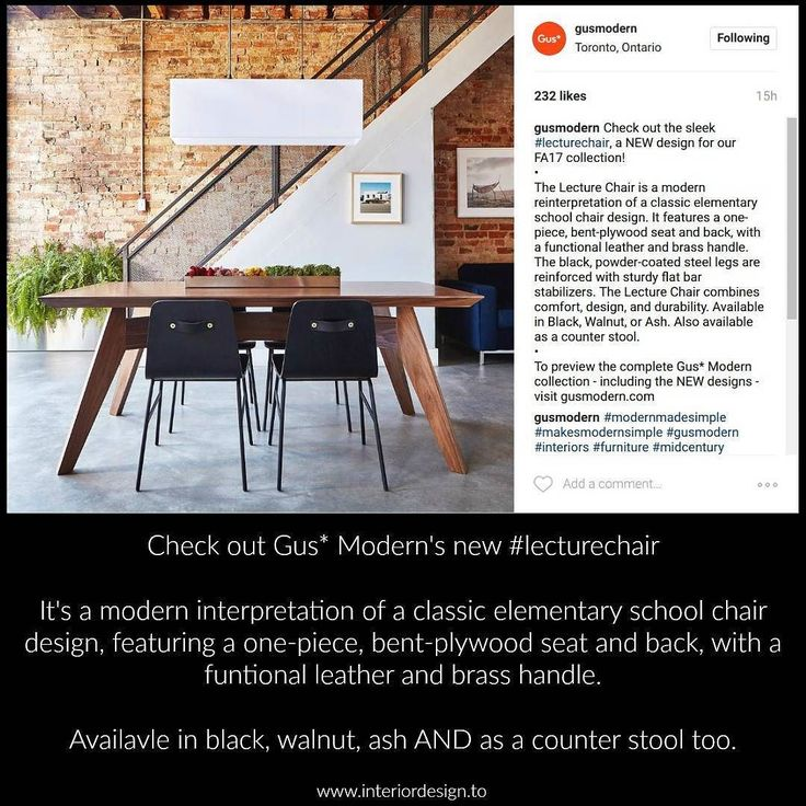check out gus moderns new lecture chairbased on the classic elementary school chairfeaturing a one piece bent plywood seat and back with a f - Interior Design Toronto School