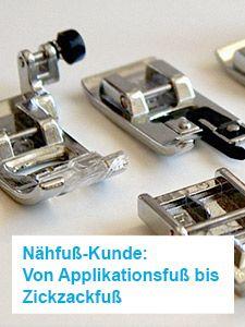 Nähfuß-Kunde: Von Applikationsfuß bis Zickzackfuß