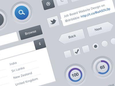 Freebies - Mobile and Web UI Kit by Sunil Joshi
